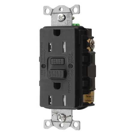 GFCI Rceptcle Commer. Blk 15A 0.5 HP by USA Hubbell Kellems Electrical GFCI Receptacles