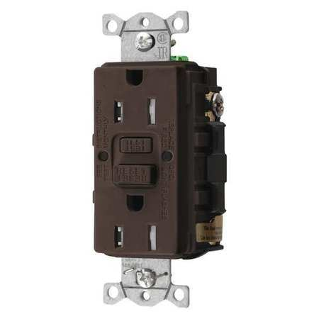 GFCI Rceptcle Commer. Brwn 15A 0.5 HP by USA Hubbell Kellems Electrical GFCI Receptacles
