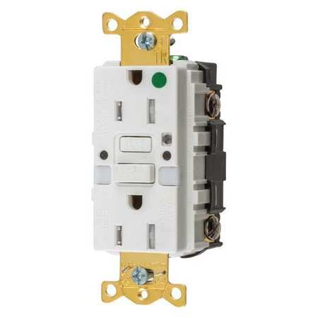 GFCI Rceptcle Hspital Wht 15A 0.5 HP by USA Hubbell Kellems Electrical GFCI Receptacles