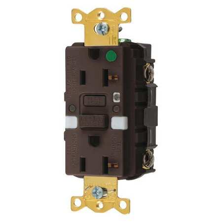 GFCI Rceptcle Hspital Brwn 20A 1 HP Model GFTRST83NL by USA Hubbell Kellems Electrical GFCI Receptacles