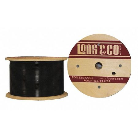 Loos Cable 250 ft Black Vinyl 1/4 in 1400 lb