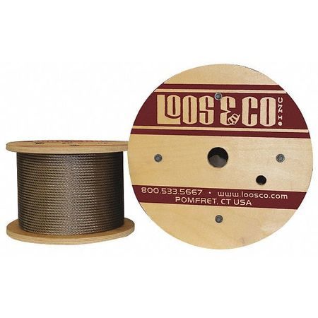 Loos Cable 250 ft. L 1/8 in. 272 lb.