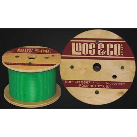 Loos Cable 100 ft Green Vinyl 3/32 in 184 lb