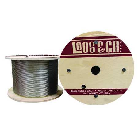 Loos Cable 250 ft. L 1/8 in. 356 lb.