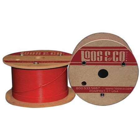 Loos Cable 250 ft. Red Nylon 3/8 in. 2880 lb.
