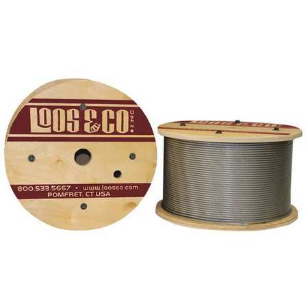Loos Cable 50 ft L 1/8 in 400 lb Vinyl