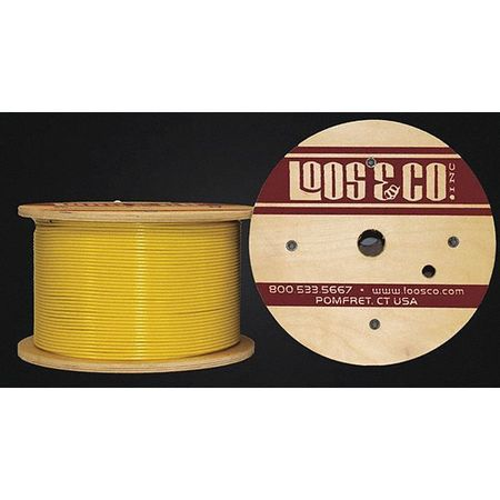 Loos Cable 500 ft Yellow Vinyl 1/4 in 1400 lb