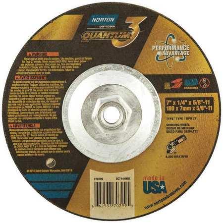 Depressed Ctr Wheel,T27,4-1//2in,5//8in-11 NORTON 66252843321