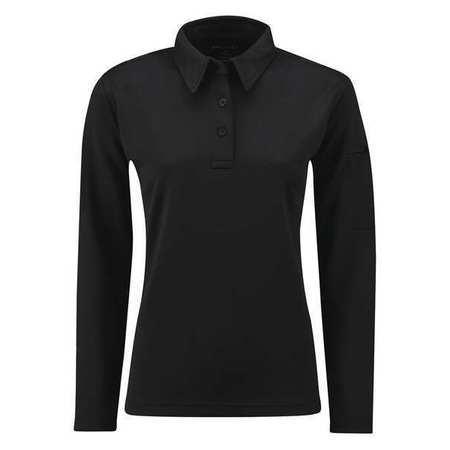 Long Sleeve Polo,s,black,womens