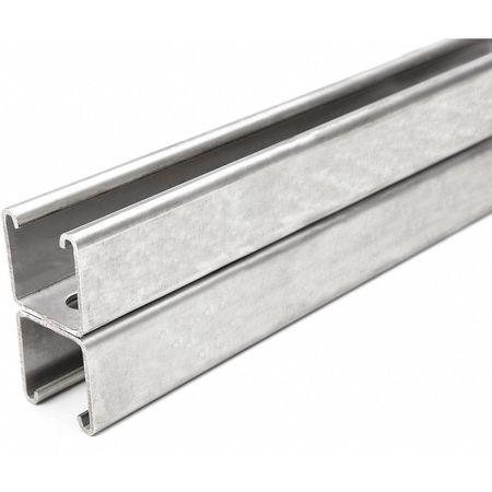 Strut Chan 5ft.L 304 SS 12 ga. by USA Value Brand Electrical Strut Channels