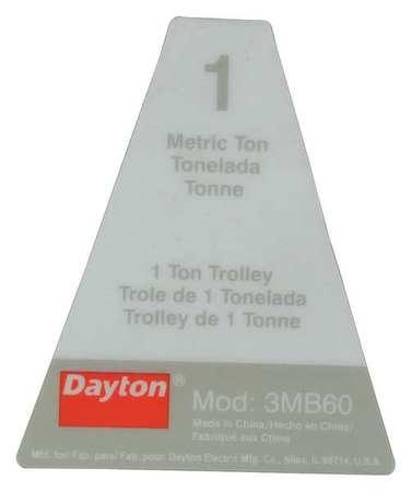 Dayton Name Plate Type G1-1-03