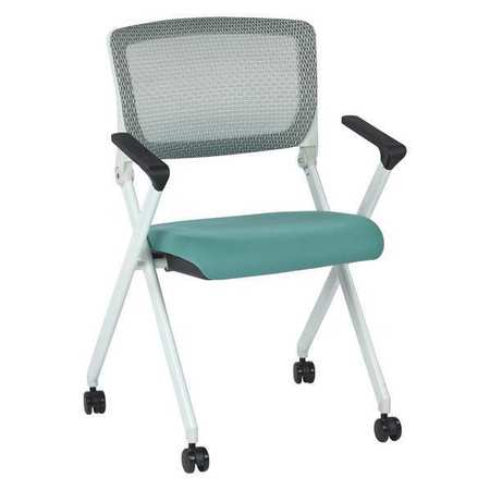 Stacking Chair Fixed Arms, Space Series, Fabric Gray
