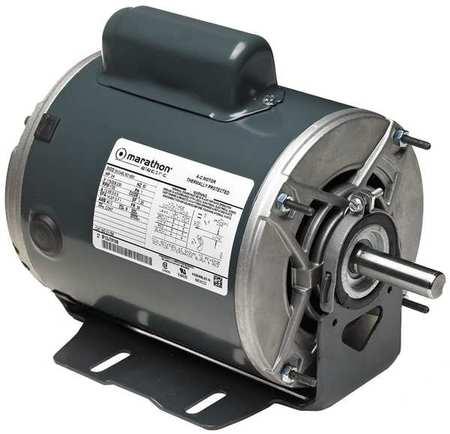 Motor 1/3 HP 1725 RPM 115/230V Auto by USA Marathon General Purpose Capacitor Start AC Motors