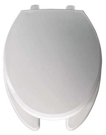 Bemis Hospitality Plastic Toilet Seat Elongated 18 1 8 Open Front Wit