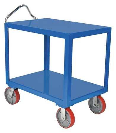 Vestil Ergo Handle Cart Poly Casters 3.6K 24x36