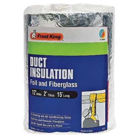 Frost king duct insulation fiberglass 15 ft l sp55 6 for 6 fiberglass insulation r value
