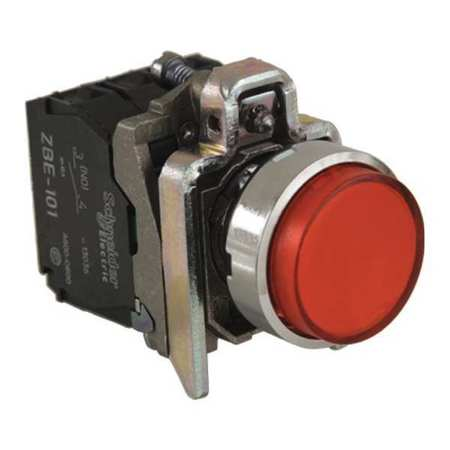 Illuminated Push Button 22mm Red Model XB4BW14B5 by USA Schneider Electrical Pushbutton Complete Units