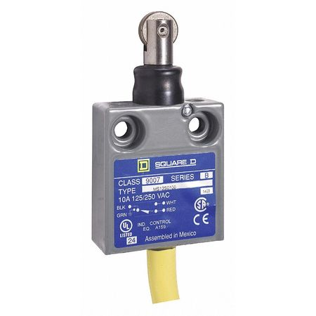 Limit Switch 240Vac 10Amp Ms Options Model 9007MS12S0100 by USA Square D Electrical Limit Switches