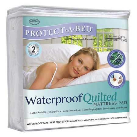Mattress Pad,waterproof,quilted,twin,pk6
