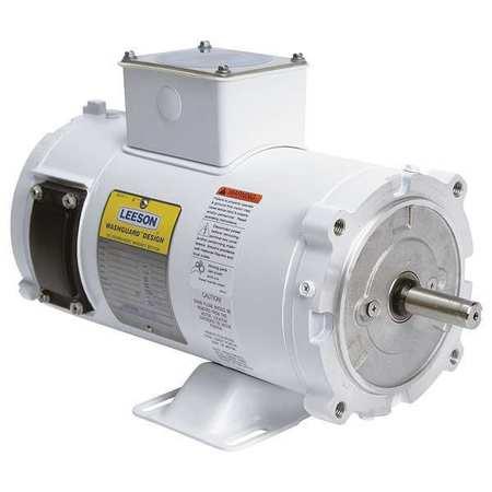 Washdown Motor 1/3 HP 90VDC by USA Leeson DC Permanent Magnet Motors
