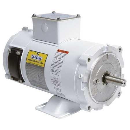 Washdown Motor 1/2 HP 90VDC by USA Leeson DC Permanent Magnet Motors