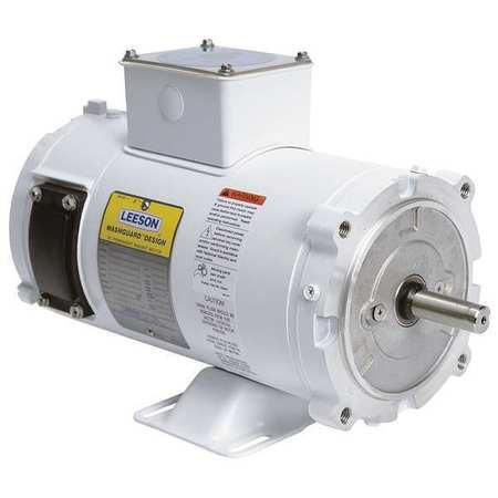 Washdown Motor 3/4 HP 90VDC by USA Leeson DC Permanent Magnet Motors