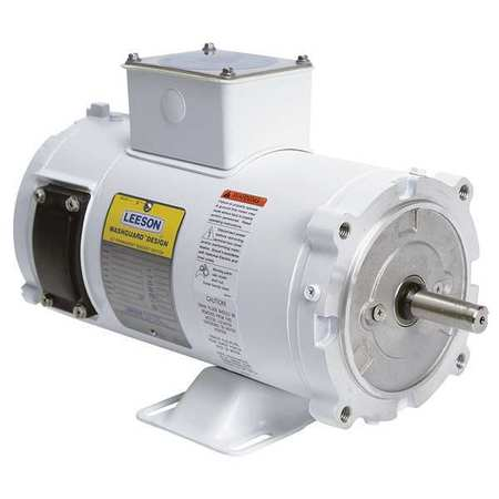 Washdown Motor 1 1/2 HP 180VDC by USA Leeson DC Permanent Magnet Motors