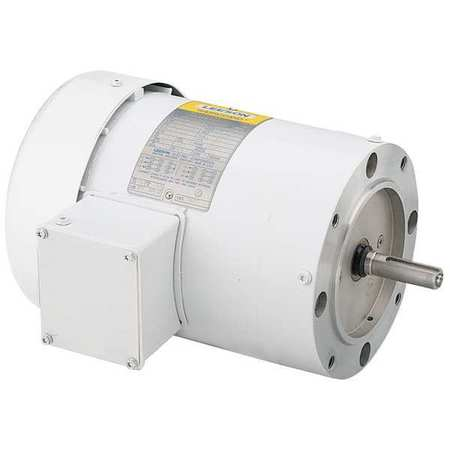Washdown Motor 1 1/2HP Face CWLE 3 Phase by USA Leeson General Purpose 3 Phase AC Motors