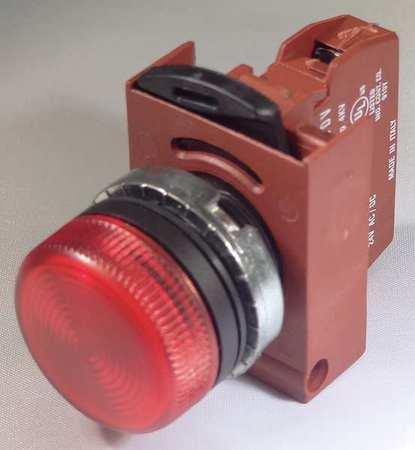 Pilot Light Orange Diffused LED Model P9CLADADI by USA GE Electrical Control Pilot Lights