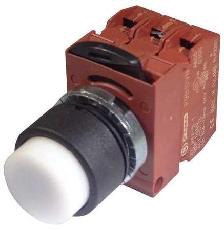 Illum Push Button Operator 22mm White Model P9XPLBSDN12NALI by USA GE Electrical Illuminated Pushbuttons
