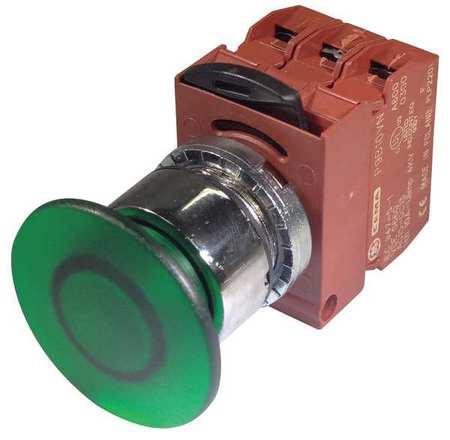 Illum Push Button Operator 22mm Green Model P9CEM4VLN12NADI by USA GE Electrical Illuminated Pushbuttons