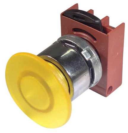 Illum Push Button Operator 22mm Yellow Model P9CEM4GL by USA GE Electrical Illuminated Pushbuttons