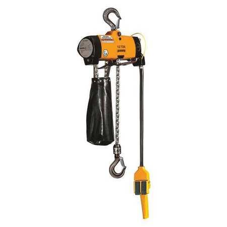 Harrington Air Chain Hoist Pull Cord 1000 lb. 10 ft