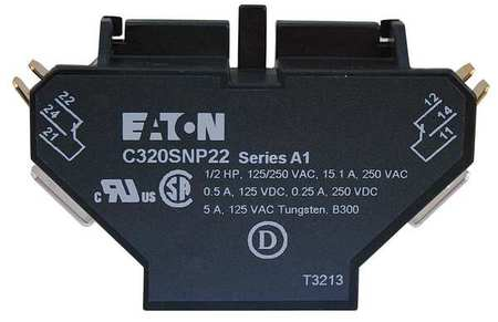 Aux Contact Block 2NO/2NC 10A by USA Eaton Electrical Motor Auxiliary Contacts