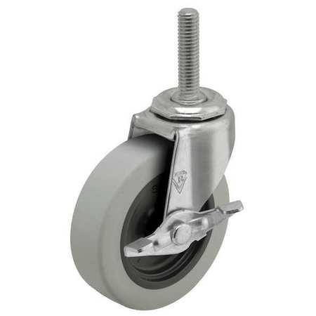 Value Brand Swivel Stem Caster w/Brake 3 in. 110 lb. Type PRE30605ZN-TPR-B