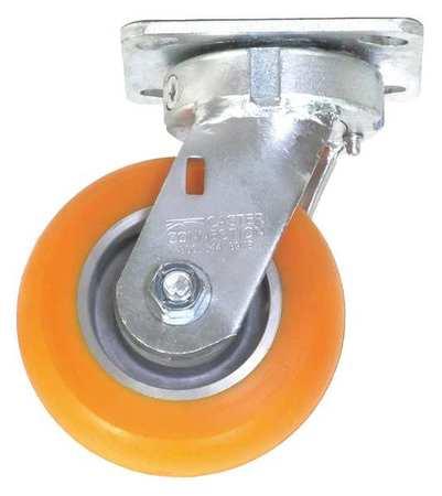 Value Brand Kingpinless Swivel Plate Caster Polyurethane 750 lb.