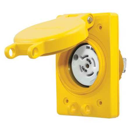 20A Watertight Locking Receptacle 4P 5W 347/600VAC by USA Hubbell Kellems Electrical Locking Receptacles