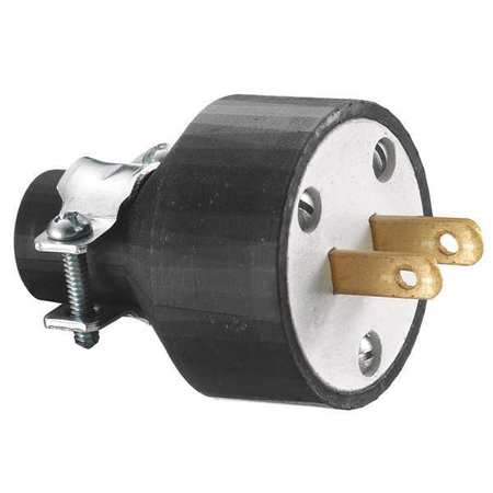2 Wire Commercial Straight Blade Plug 125VAC 15A by USA Hubbell Kellems Electrical Straight Blade Plugs