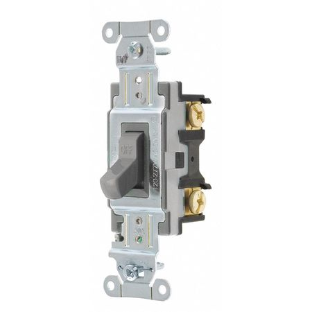 Wall Switch 20A Gray 1 HP 1 Pole Switch by USA Hubbell Kellems Electrical Wall Switches
