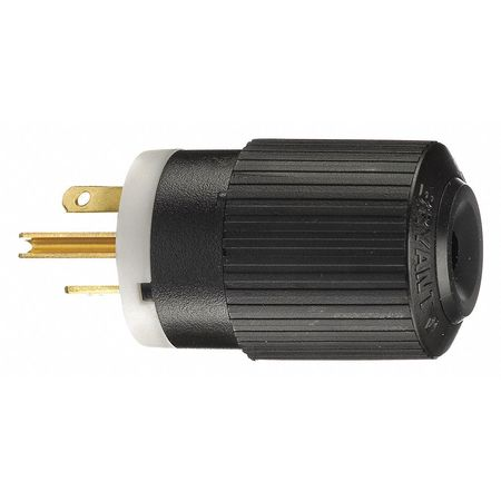 3 Wire Industrial Straight Blade Plug 250VAC 20A Model BRY5466NP by USA Bryant Electrical Straight Blade Plugs