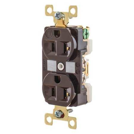 20A Duplex Receptacle 125VAC 5 20R BN Model BRY5362 by USA Bryant Electrical Straight Blade Receptacles
