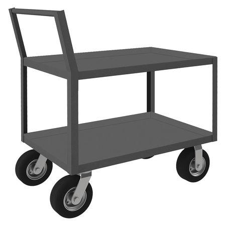 Durham Welded Low Deck Utility Cart 1200 lb. Type LDO-304841-2-8PN-ALU-95