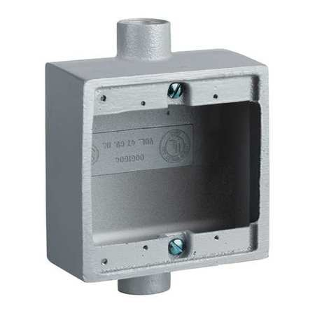 "Device Box Shallow 1/2"" Hub 4.62"" L by USA Hubbell Killark Electrical Weatherproof Boxes"