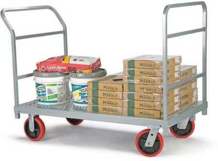 Value Brand Platform Truck 3200 lb Steel 54 in L Type 3964