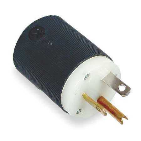 3 Wire Industrial Straight Blade Plug 125VAC 20A Model HBL5366C by USA Hubbell Kellems Electrical Straight Blade Plugs