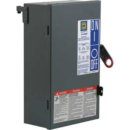 Floor Op Disconn 30A 600V 3P3Ph 3G W PQ by USA Square D Circuit Busbars & Bus Plugs