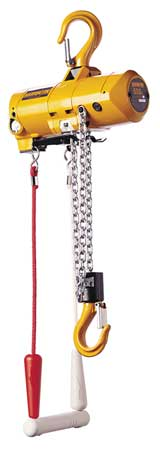 Harrington Air Chain Hoist 500 lb. Cap. 10 ft. Lift Type AH500C-10
