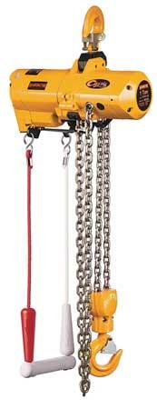 Harrington Air Chain Hoist 2000 lb. Cap. 10 ft. Lft Type TCS1000C2-10