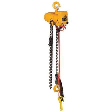 Harrington Air Chain Hoist 500 lb. Cap. 10 ft. Lift