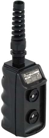 Pendant Push Button Station 2NO Black by USA Square D Electrical Push Button Control Stations